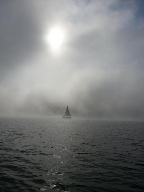 Żagle we mgle